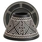 African Etched Ceramic
