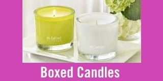 Millefiori Boxed Candles