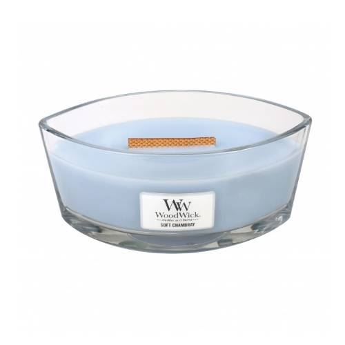 Soft Chambray - Woodwick Hearthwick Candle