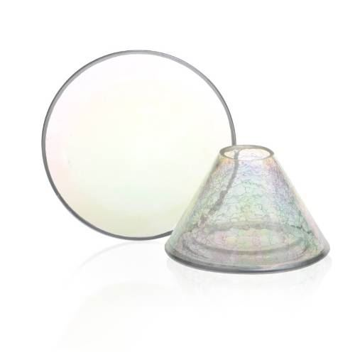 Pearlescent Crackle Large Shade and Tray